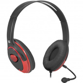 Гарнитура DEFENDER Phoenix 875 black/red