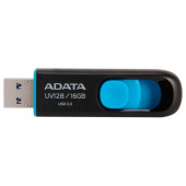 Флэшка 16Gb USB 3.1 A-Data UV128 (AUV128-16G-RBE) металлич., черная